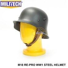 무료 배송! Militech 그레이 2 차 세계 대전 독일 m18 헬멧 위대한 전쟁 repro 안전 헬멧 ww1 독일 m18 헬멧 wwi