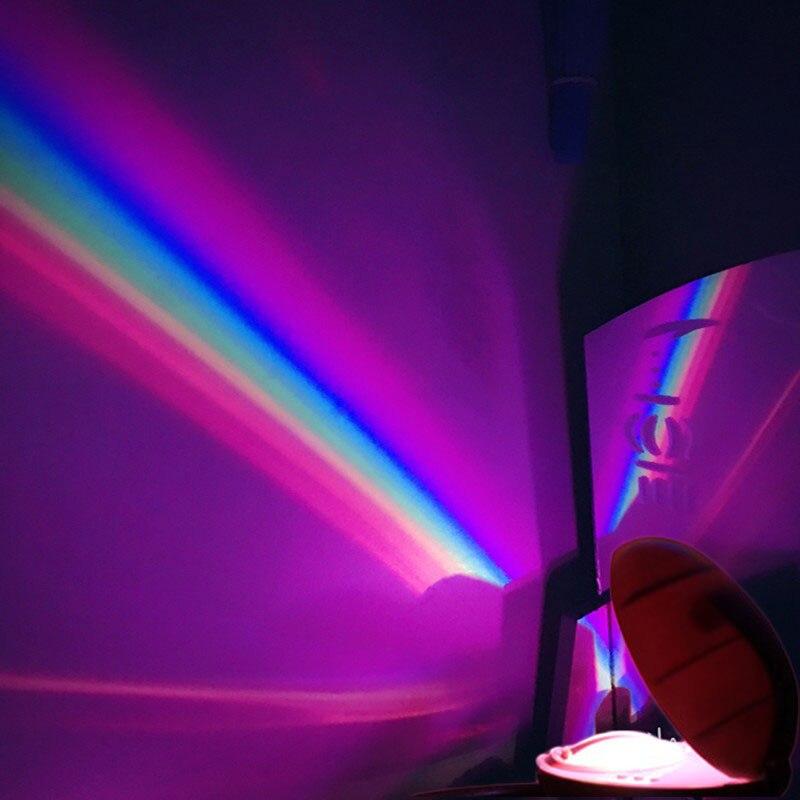 3 Modes LED Creative Colorful Rainbow Night Light Romantic Magic Rainbow Projection Lamp For Children Bedroom Home Decor
