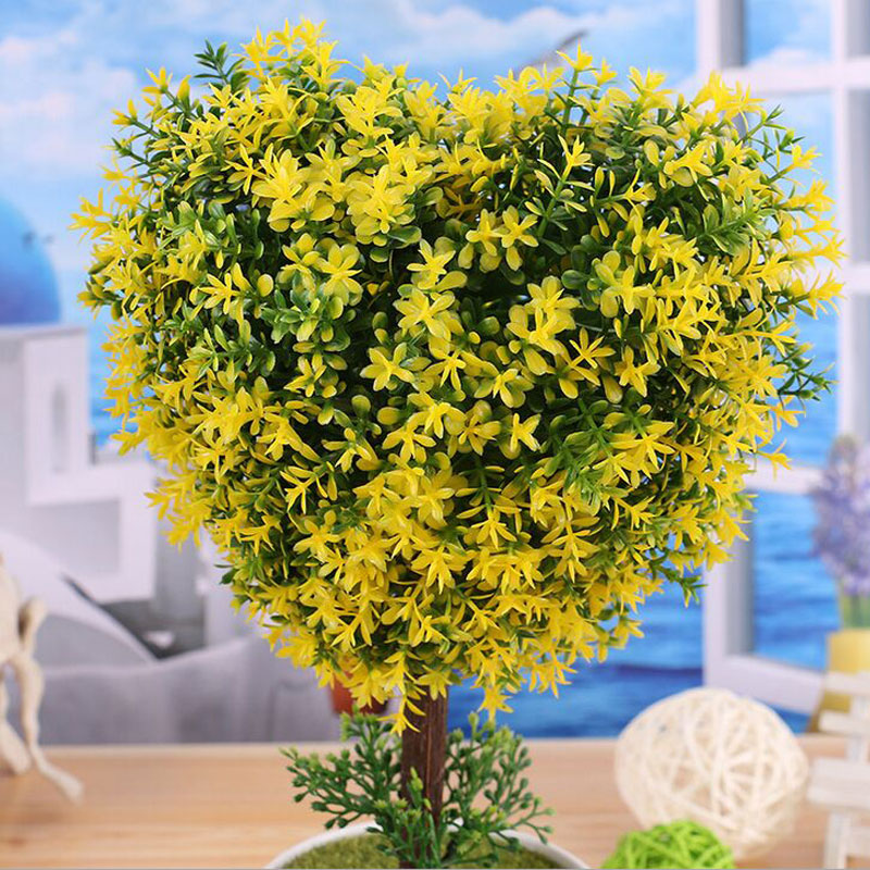 2017 Limited Artificial Bonsai Tree For Sale Floral Decor Fake Plant Heart shaped Simulation Flores Artificiais Desktop Display in Artificial Dried Flowers from Home Garden