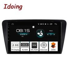 "Idoing 10.2 ""IPS 2.5D 4 GB + 64 GB 1 Din Android 8.0 Car Radio Multimedia Player GPS Per skoda Octavia 2017 8 Core di Avvio Veloce NoDVD"