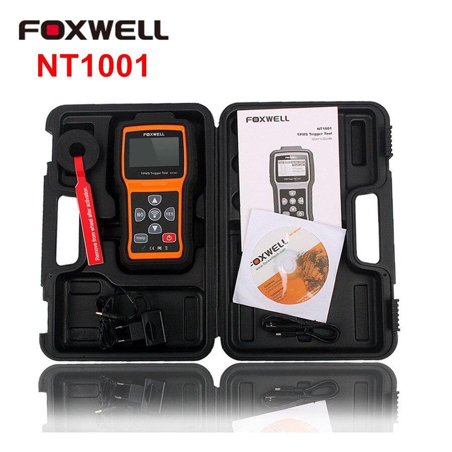 Цена за 100% Оригинальные Foxwell NT1001 TPMS триггера инструмент OBD2 Авто диагностики Scannner