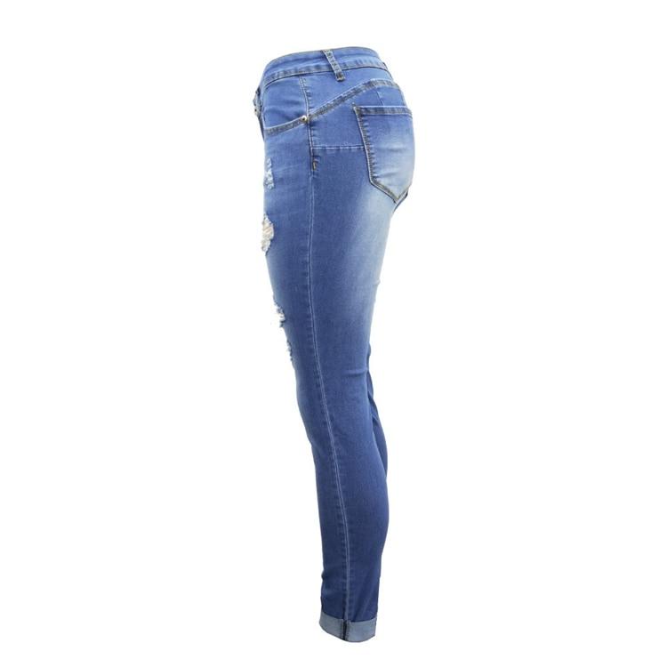 Women Jeans Pants Skinny Pearl Beaded Front Jeans Summer Spring Mid Waist Zipper Long Denim Casual Pants (13)