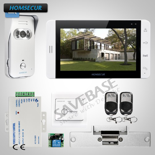 homsecur  video door phone intercom systemsilver camera  home security electric strike
