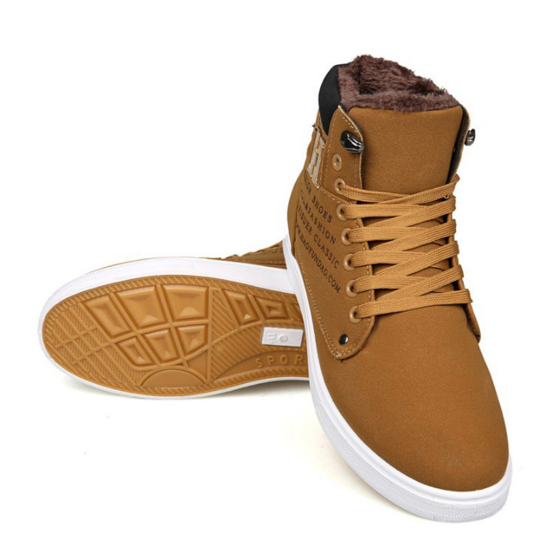 Men Shoes 2018 Fashion New Arrivals Warm Winter Shoes Men High Quality Frosted Suede Shoes Men Sneakers Men's Shoes