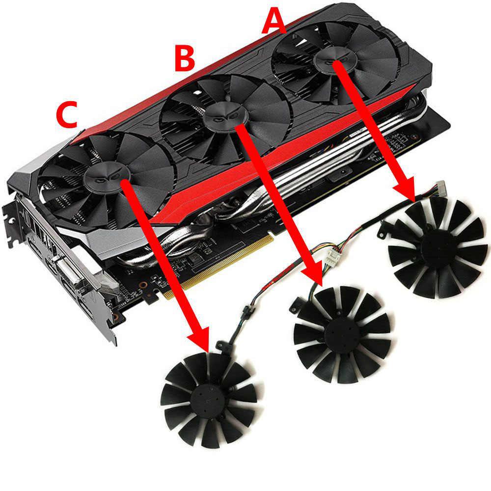 Gtx1080 gtx980ti gtx1060 gtx1070 GPU Vga グラフィッククーラーファン Asus ストリックス GTX 1070 1080 980Ti 1060 ビデオカード冷却システム