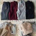 Inverno Womens Baggy Sweatpants Calças De Lã Das Mulheres do Sexo Feminino de Cashmere Calças de Senhora Calças de Algodão Térmica de Alta Qualidade Grosso Quente M-4XL