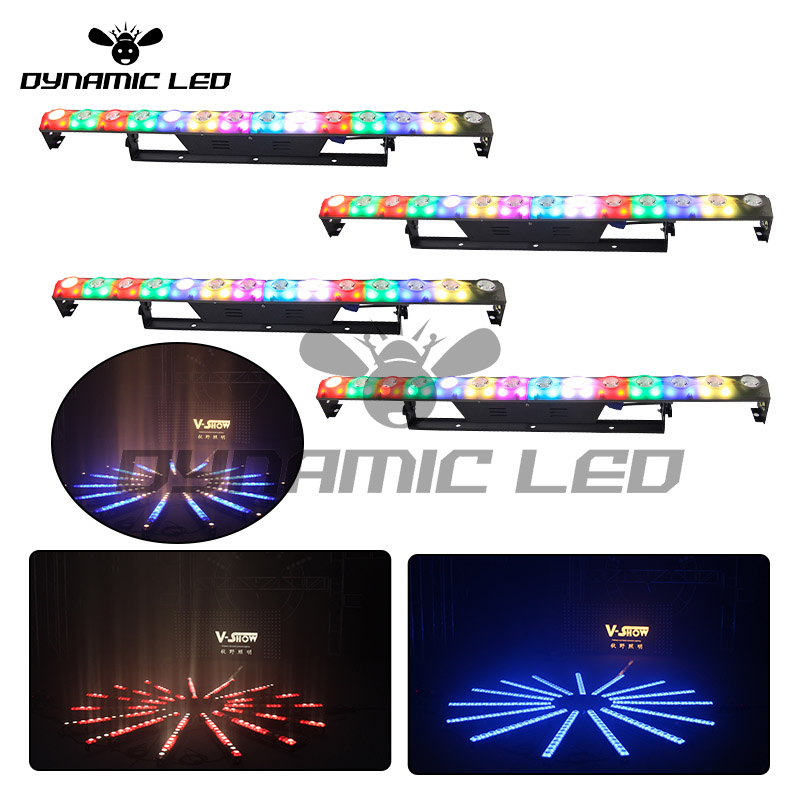 Provided 4pcs 2in1 Wall Washer Light 14x3w Led Bar Light 3/5p Dmx512 Control Stage Dj Disco Light For Club Bar Church Promoting Health And Curing Diseases Lights & Lighting Commercial Lighting