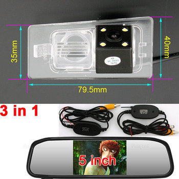 for Kia Cerato Hyundai Elantra Vehicle Reverse Parking Rear View Back up off Wing Mirror Wireless GPS Camera Monitors DVD player image