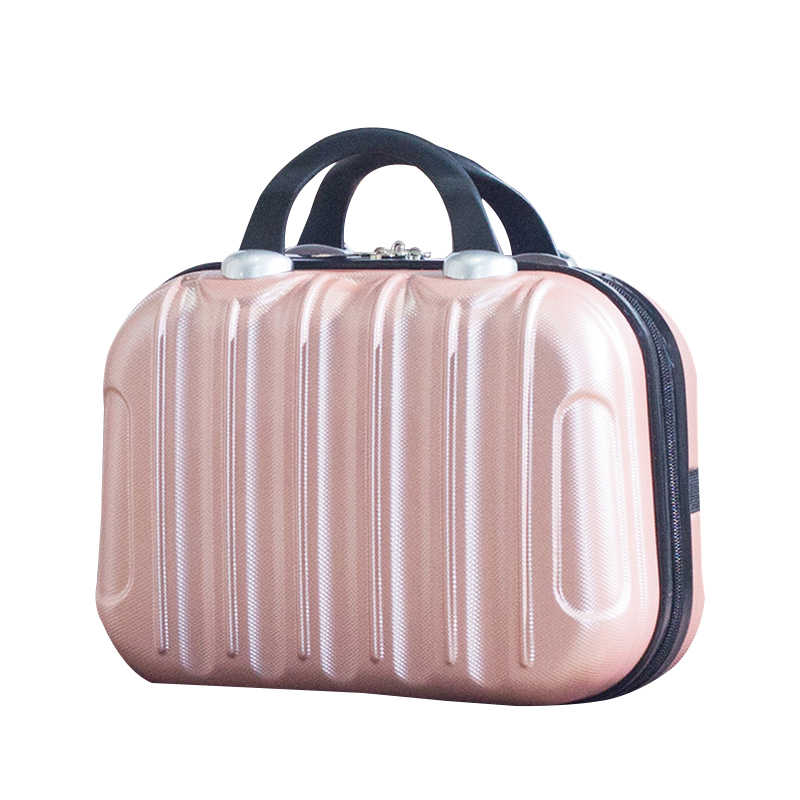 Small Womem Large Cosmetic Bag Professional Makeup Box Beauty Zipper Suitcase Toiletry Organizer Travel Accessories Supplies