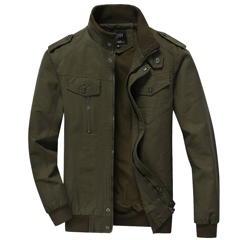 Dropshipping Cotton Coat Military Spring Autumn Jacket Men Solid Casual Bomber Jackets Plus Size 6XL men clothes army jacket new