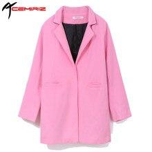 Acemiriz Осень корейской отложной воротник пальто Женские однотонные ботфорты Пальто для будущих мам Толщина широкий талией Для женщин Пальто для будущих мам wca1002