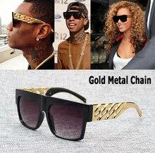 JackJad Fashion Celebrity Inspired Gold Metal Chain Kim Kardashian Beyonce Sunglasses Vintage Hip Hop Sun Glasses Oculos De Sol