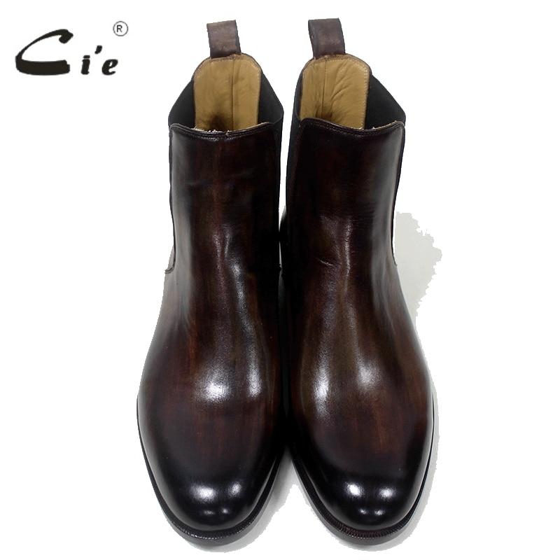cie Chelsea-Stiefel mit runder Schuhspitze Maßgeschneiderte, - Herrenschuhe - Foto 3
