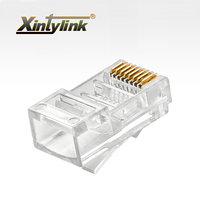 xintylink 1000pcs RJ45 connector rj45 Plug Cat5 Cat5e 8p8c unshielded gold plated Modular utp ethernet cable Network Connector