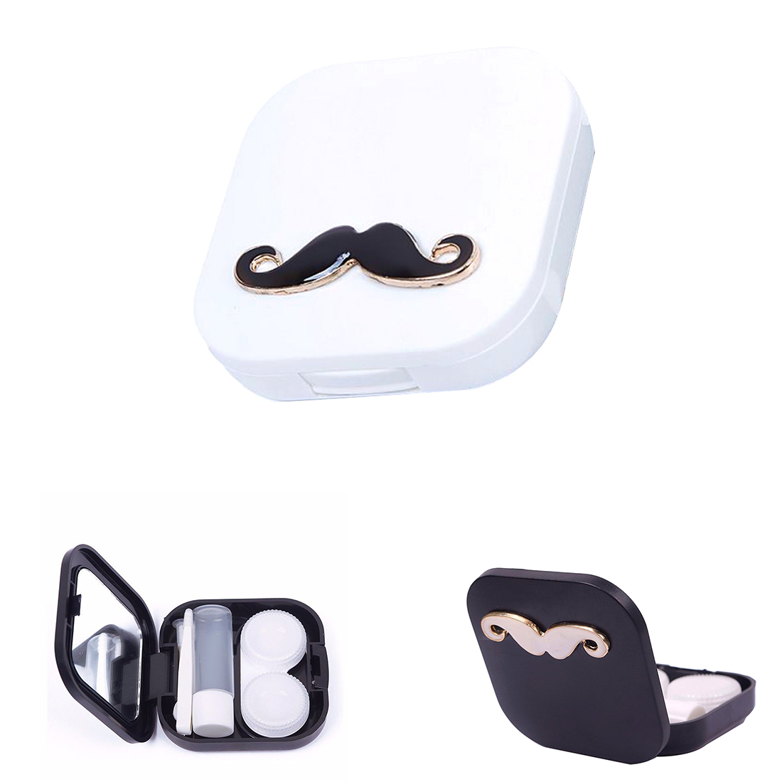 ̿̿̿(•̪ )Portátil mini lindo dibujos animados barba forma lentes de ...