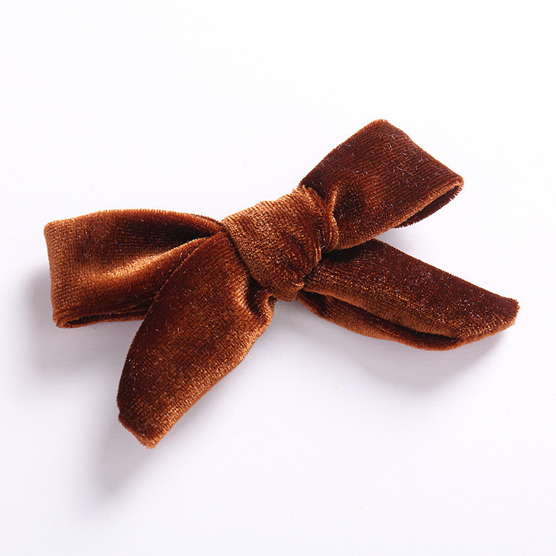 Детская заколка для волос высокого качества для девочек, популярная детская заколка для волос, 1 шт., корейский бант, аксессуары для волос, бархатная заколка - Цвет: 17