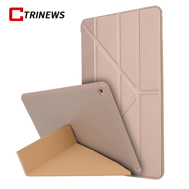 CTRINEWS Smart Tablet Case For iPad Air 1 Soft Silicone TPU Flip Pu Leather Cover For iPad Air Protective Case Auto Sleep / Wake