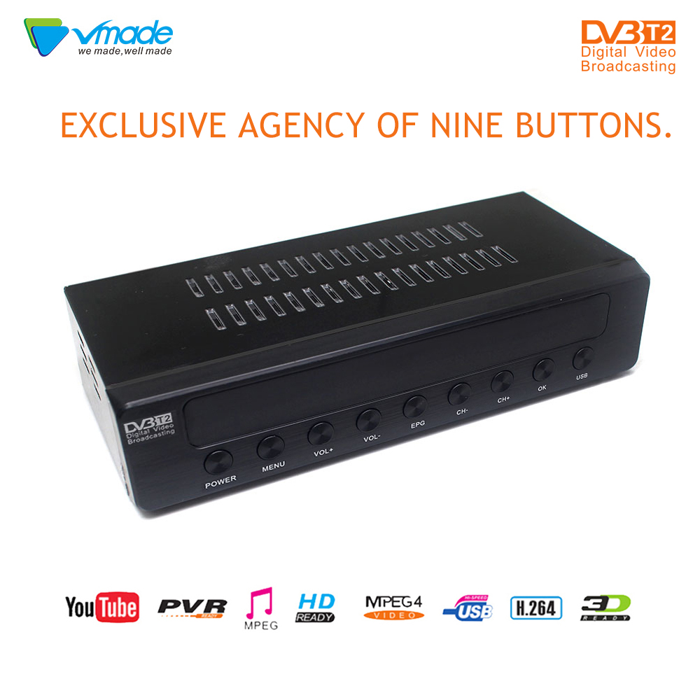 Vmade Television receiver Completely for dvb t full HD 1080P high Digital terrestrial DVB TV BOX