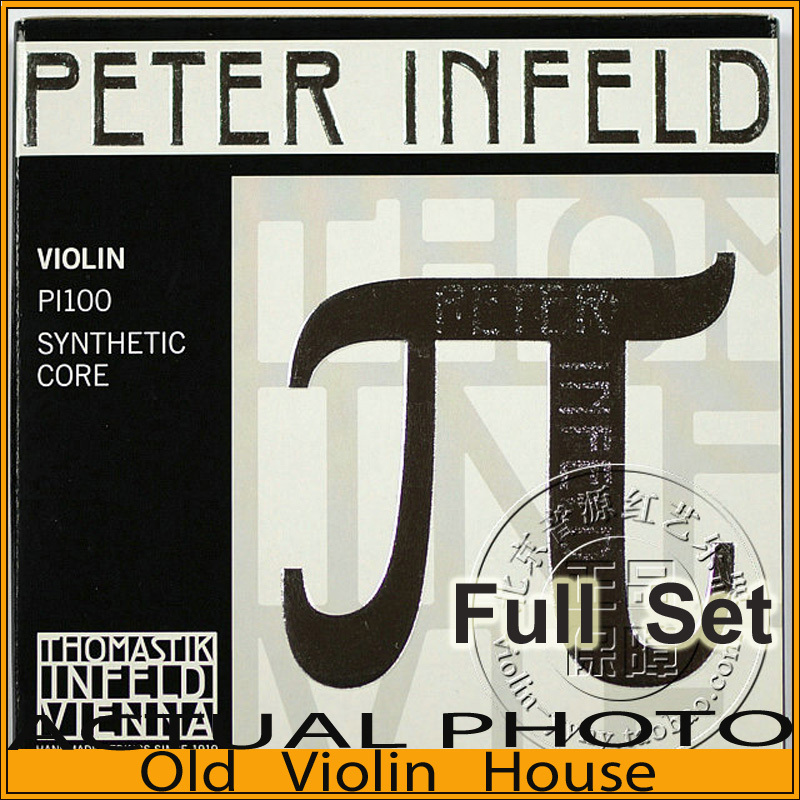 Original Thomastik Peter Infeld (PI100) Violin Strings,Platinum E--Silver D,Medium with Ball End, full set,made in Austria free shipping evah pirazzi violin strings full set ball end made in germany for 4 4