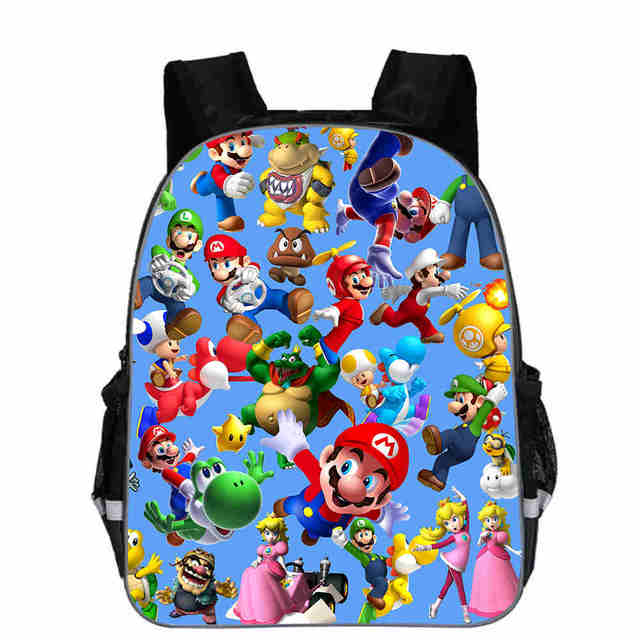 super mario backpack anime game sonic l o l animal casual