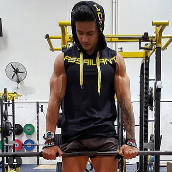 Brand 2018 New Men's Tank Top Shirts Tees hooded Vest Sleeveless Outdoor Gym Run Basketball Undershirts Stringer Singlets