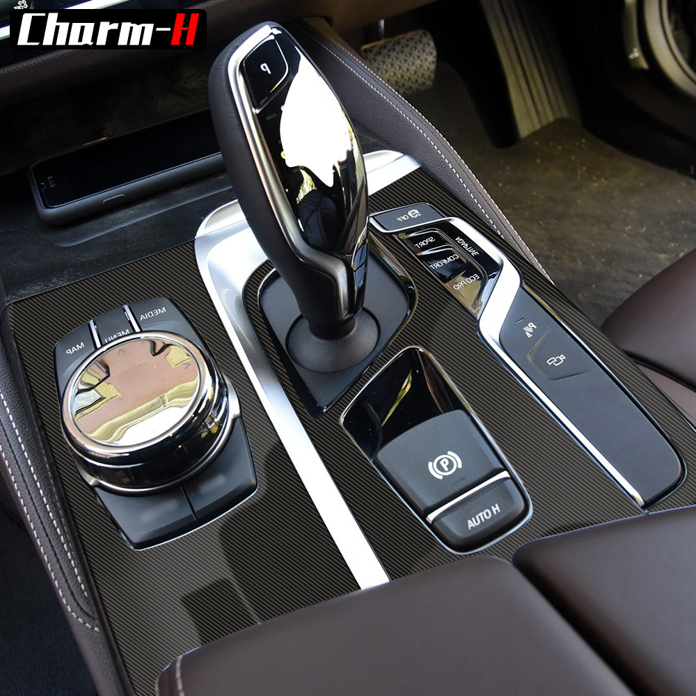 US $11 31 56% OFF 5D Carbon Fiber Vinyl Interior Central Control Console  Panel Film Sticker Decal For BMW G30 G31 Right Hand Driver Accessories-in  Car
