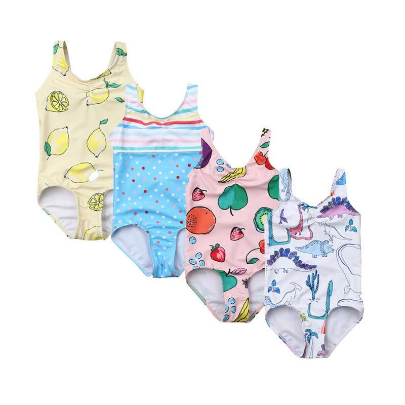 Summer Baby Girl One Piece Swimwear Toddler Kids Swimsuit Children Swimming Suit Bikini Fruits -6271