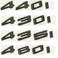 Matte Black ABS Number Letters Word Car Trunk Badge Emblem Emblems for BMW 4 Series 420i 428i 430i 440i 435i 450i 480i
