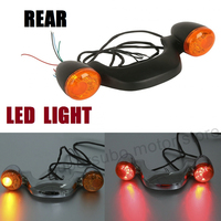 Motorcycle CHROMED Rear LED Turn Signal Lights Bar For Harley Touring Street Glide Road Glide Roadking