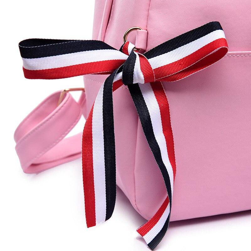 Scuola Grande Donne pink Delle Di Zaino Sacchetto Backpack Billetera Capacità Backpack Modo Tracolla Borsa A Black nqUpzU