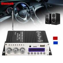 Kroak bluetooth Hi-Fi стерео аудио Мощность Автомобильный цифровой Усилители домашние 12 В + пульт автомобиля Усилители домашние fm Радио стерео