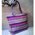 NUEVA impresión de la flor bolsa de Playa bolsos de las mujeres de gran capacidad de hombro de la muchacha de las mujeres bolsos de diseño de alta calidad 2016