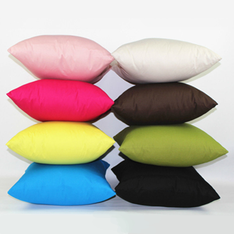 Promotion Wholesale Two Sided Colorful 100% Cotton Thin Twill Khaki Decorative Throw Pillows For Sofa Hotel Cushions Home Decor