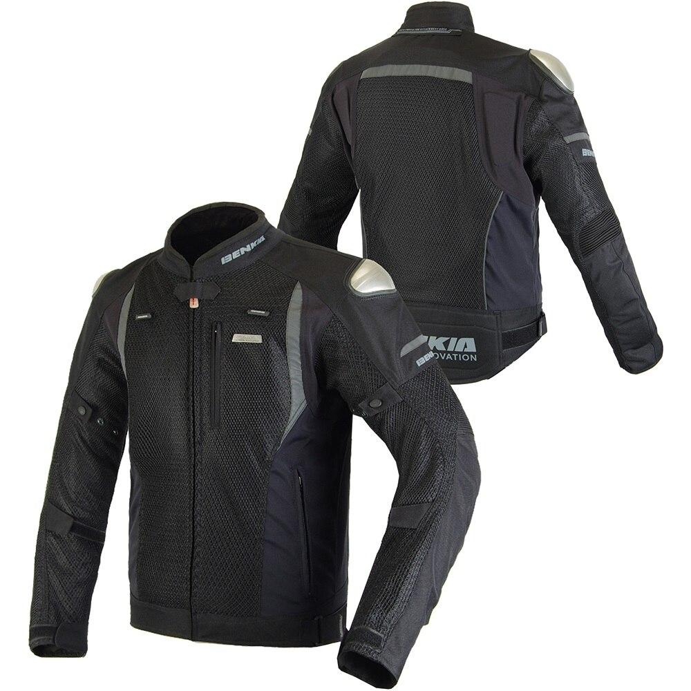 Benkia Jacket Motorcycle Men Motorbike Riding Jacket Protective Motocross Racing Jacket Mesh Breathable Rider Biker Jacket Armor