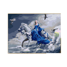 White Horse Oil Painting By Numbers On Canvas DIY Digital Wall Pictures Painting Coloring By Numbers Cuadros Lienzos Decorativos