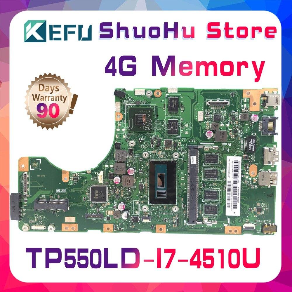 KEFU For ASUS vivobook TP550L TP550LA TP550LN TP550LD laptop motherboard I7 4510U 4GB GT820M tested 100% work original mainboard Motherboards    - title=