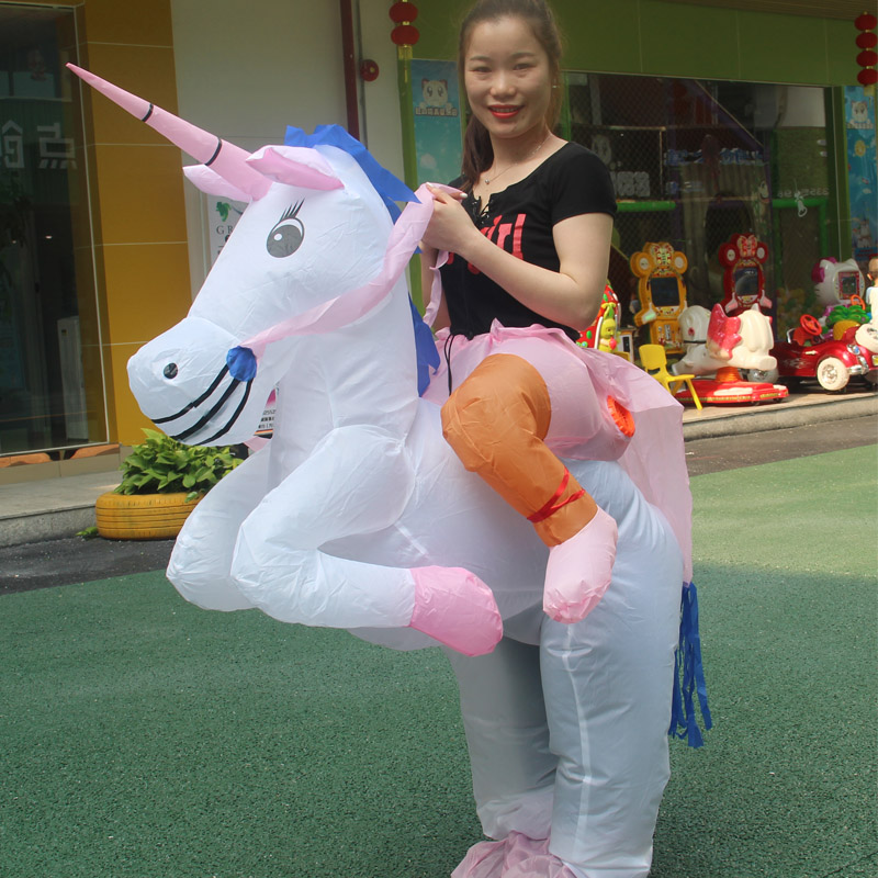Adult Christmas Carnival Halloween Costume Inflatable Unicorn Costumes Clothes Funny Costumes Halloween Costumes for Women Men