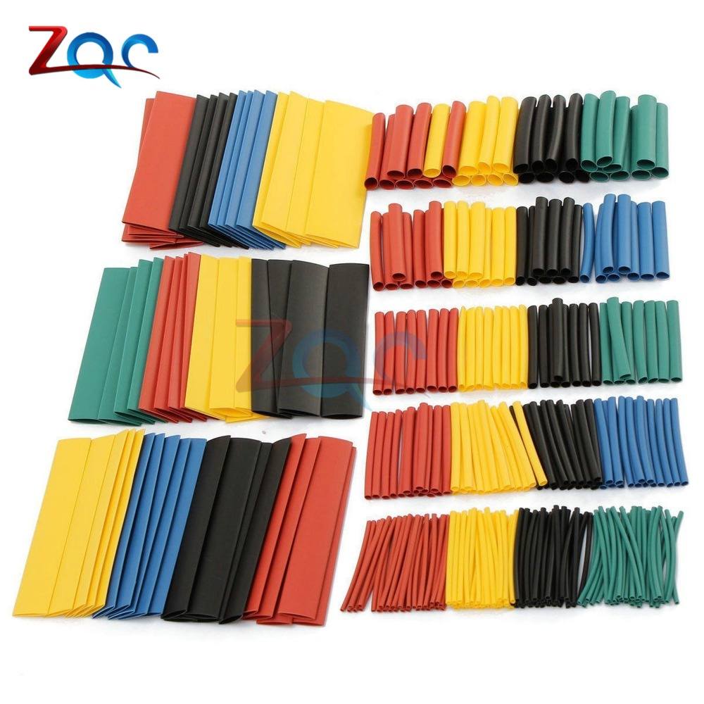 цена на 1set 328Pcs Polyolefin Car Electrical Cable Tube kits Heat Shrink Tube Tubing Sleeve Wrap Wire Assorted 8 Sizes Mixed Color