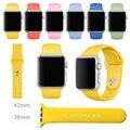 Оригинал Спорт 1:1 Силиконовый Ремешок Для Apple Watch Band 38 мм 42 мм iWatch Спорт Группа Пряжка Группа С Соединения Адаптер