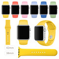 Deporte original 1:1 correa de silicona para apple watch band 38mm 42mm iwatch sport band hebilla banda con adaptador de conexión