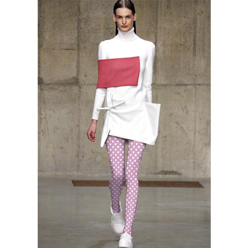 2016 Reales Apresurado Dot Fashion Runway Parece Pantimedias Mujer Clásica Superposición de Geometría del Círculo de Impresión Render Medias