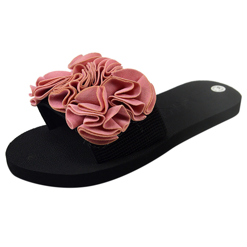 Womens Bohemian Flower Flat Slipper Summer Sandals Non-slip Beach Shoe fashion Thick-Soled Wear-Resistant Flower Slipper Apr 23Womens Bohemian Flower Flat Slipper Summer Sandals Non-slip Beach Shoe fashion Thick-Soled Wear-Resistant Flower Slipper Apr 23