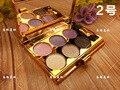6 Colores Diamante Brillante Sombra de Ojos maquillaje Colorido Sombra de Ojos Super Set maquillaje Flash Glitter Paleta Sombra de ojos con Pincel y Mirrow