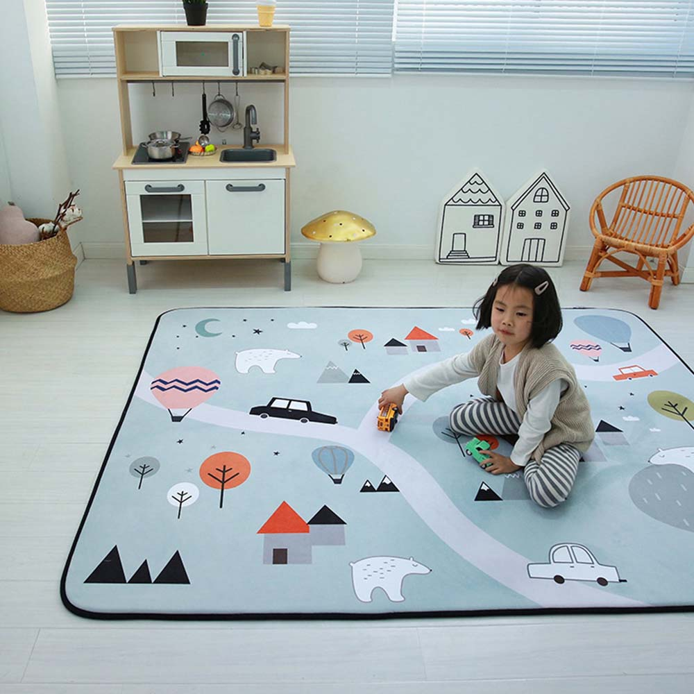 New 1PC Outdoor Puzzle Children's Mat Thickened Baby Room Crawling Pad 145*195cm Baby Cotton Play Mat Folding Mat Baby Carpet