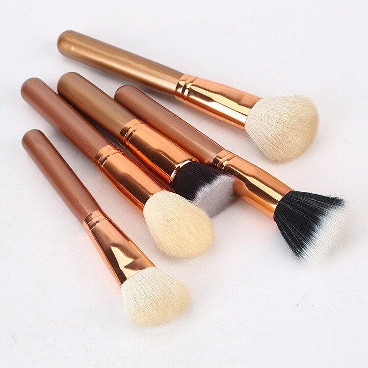 30 rose gouden make up borstel set beginner oogschaduw borstel lip borstel blush losse poeder borstel make up tools make up volledige set - 6