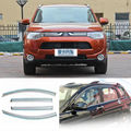 4 unids nueva clear window shade vent visor carenados para mitsubishi outlander