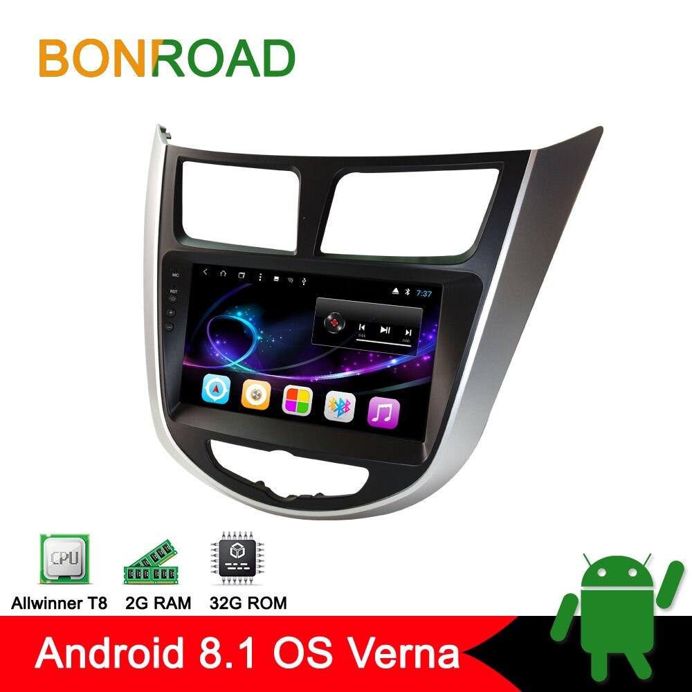 Bonroad 8 Android Car Multimedia Player For Hyundai Accent Solaris I25 Verna Car Intelligent System Radio
