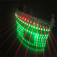 T825 Red laser light dj glasses party singer stage wears props bar models performance led costumes luminous glowing dress disco