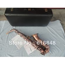 Wholesale –Be sure to watch very beautiful red archaize copper alto saxophone