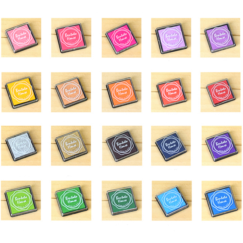 20 Color Craft Ink Pad Stamps Partner Children's Finger Painting InkPads DIY Rubber Stamps Scrapbooking